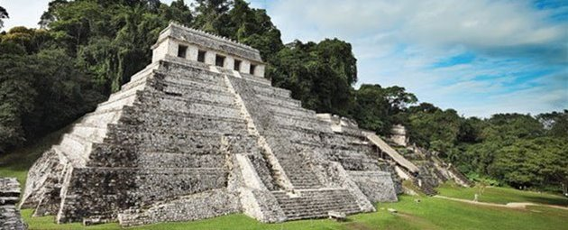 Maya-ruinerne ved Palenque i Mexico