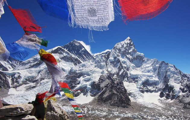 Bedeflag i everest base camp