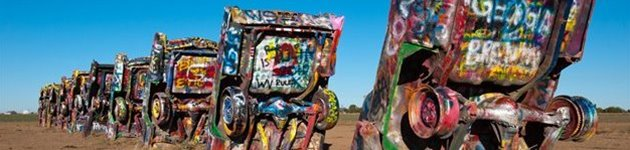 Cadillac Ranch, Route 66, USA
