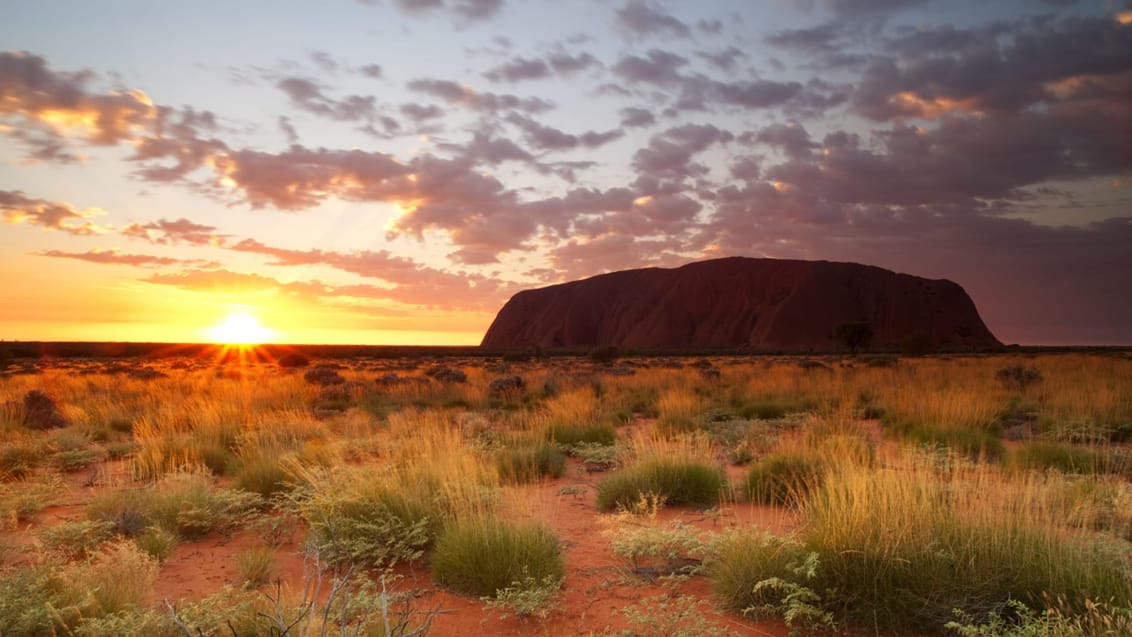 Solnedgang over Ayers Rock