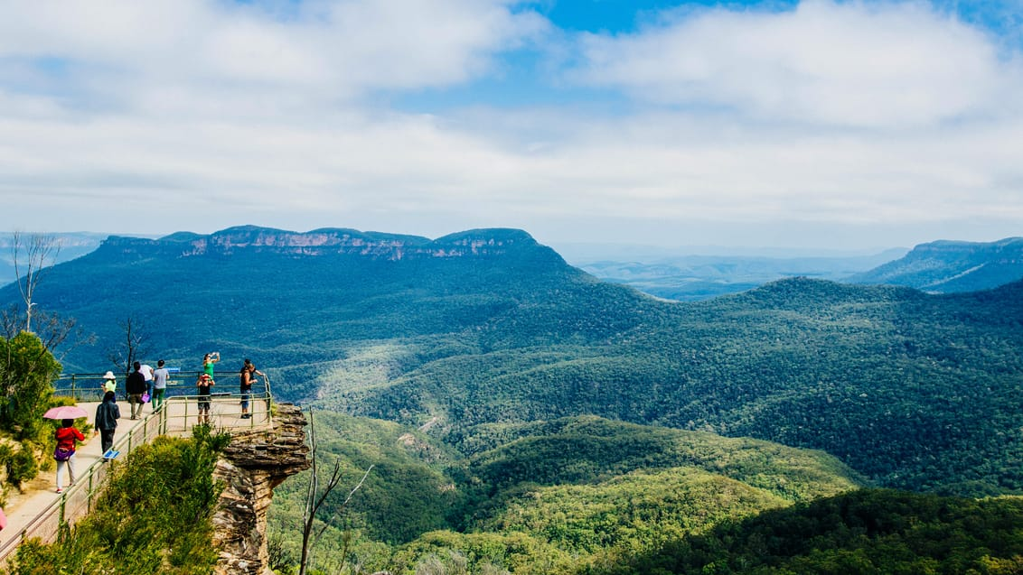 Blue Mountains Nationalpark, et par timer fra Sydney