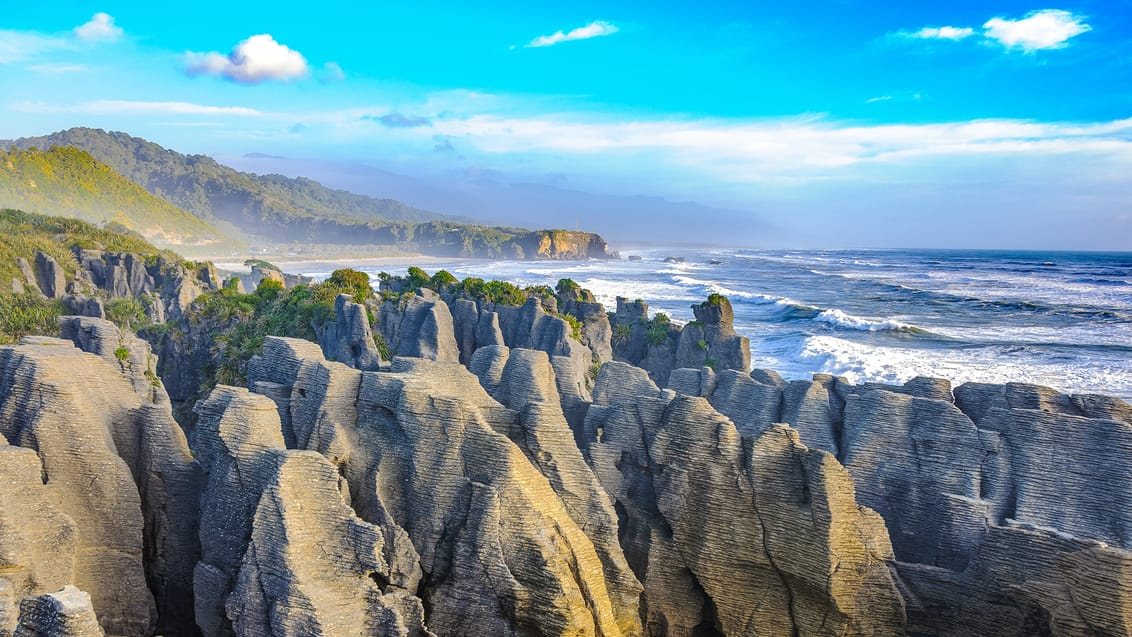 Pancake Rocks ved Punakaiki, New Zealand