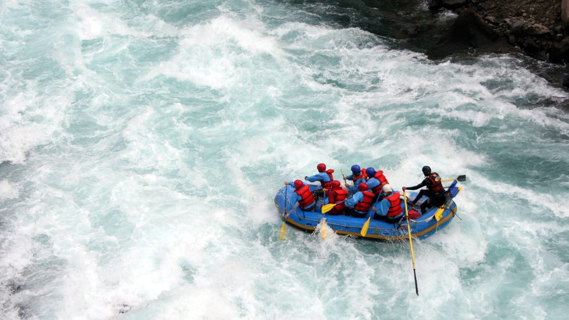 Rafting på Kicking Horse River