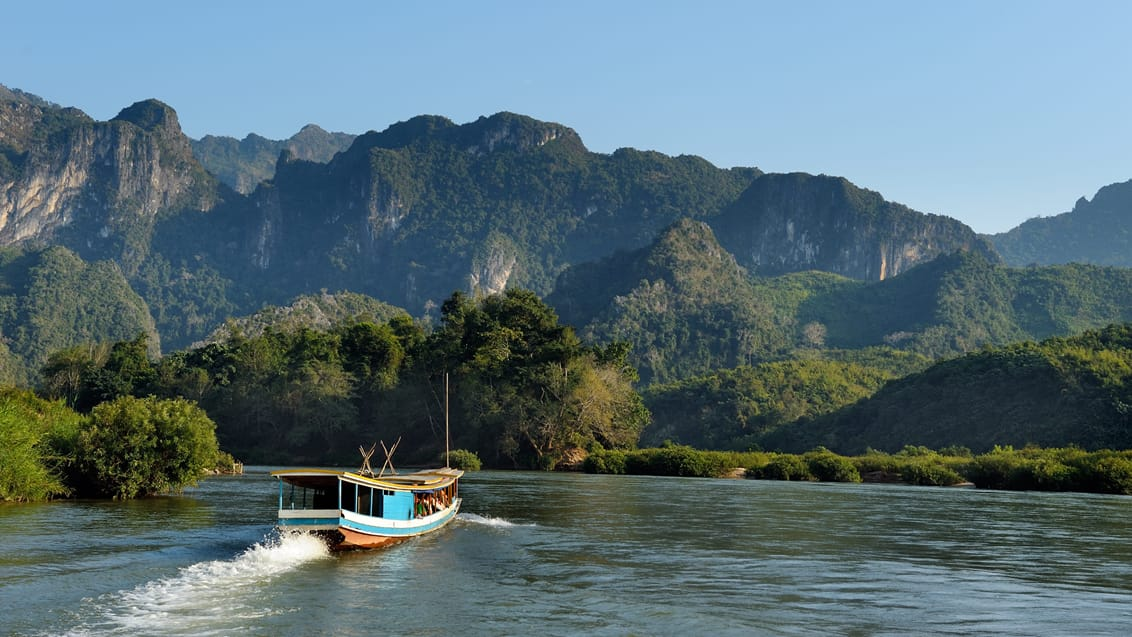 Slowboat i Laos