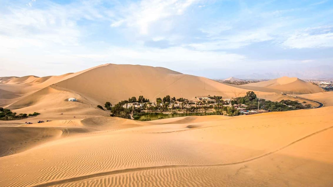 Oasen Huacachina ved Ica