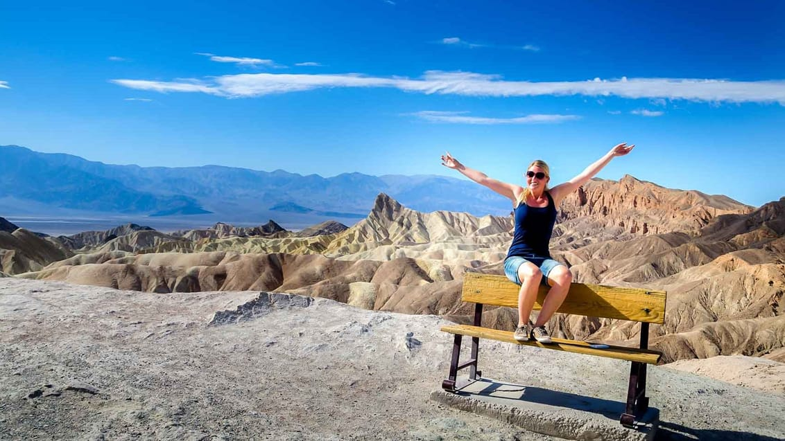 Udsigten over Zabriskie Point i Death Valley